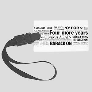 Obama Re-Elected Headline Large Luggage Tag