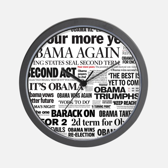 Obama Re-Elected Headline Wall Clock