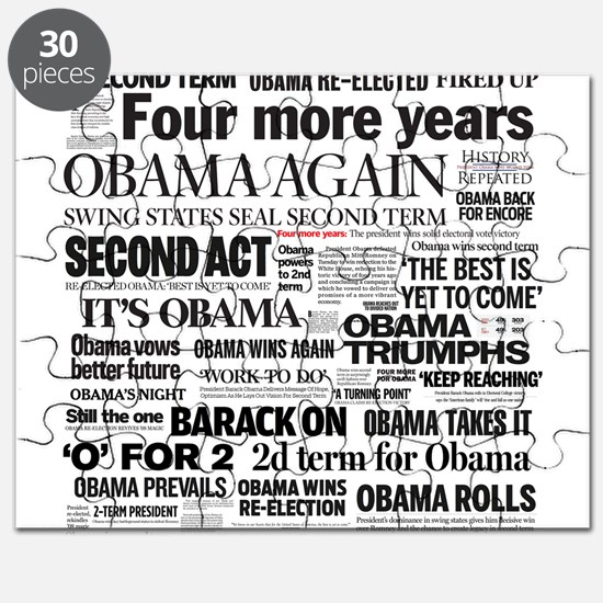 Obama Re-Elected Headline Puzzle