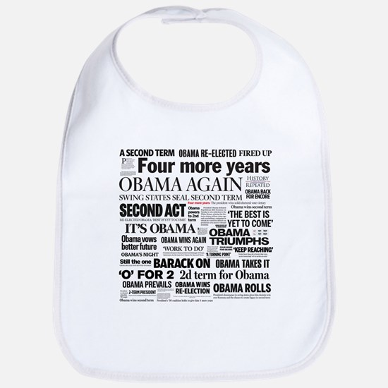 Obama Re-Elected Headline Bib
