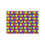 Rainbow Smiley Face Pattern 5'x7'Area Rug