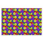 Rainbow Smiley Face Pattern Large Poster