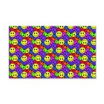 Rainbow Smiley Face Pattern 20x12 Wall Decal