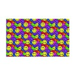 Rainbow Smiley Face Pattern 35x21 Wall Decal
