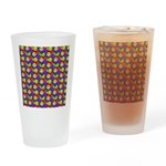 Rainbow Smiley Face Pattern Drinking Glass