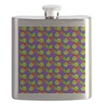Rainbow Smiley Face Pattern Flask