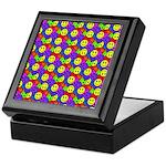 Rainbow Smiley Face Pattern Keepsake Box