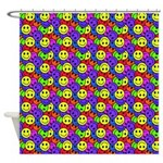 Rainbow Smiley Face Pattern Shower Curtain