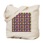 Rainbow Smiley Face Pattern Tote Bag