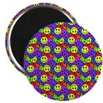 Rainbow Smiley Face Pattern Magnet