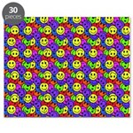 Rainbow Smiley Face Pattern Puzzle