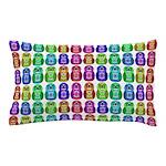Rainbow Matryoshka Owl Pattern Pillow Case