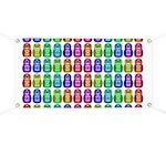 Rainbow Matryoshka Owl Pattern Banner