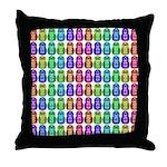 Rainbow Matryoshka Owl Pattern Throw Pillow