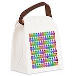 Rainbow Matryoshka Owl Pattern Canvas Lunch Bag