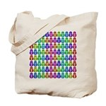 Rainbow Matryoshka Owl Pattern Tote Bag