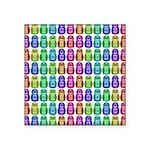 Rainbow Matryoshka Owl Square Sticker 3
