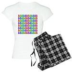 Rainbow Matryoshka Owl Women's Light Pajamas