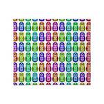 Rainbow Matryoshka Owl Pattern Throw Blanket
