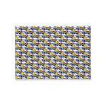 Kawaii Smiley Rainbow Pattern 5'x7'Area Rug