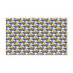 Kawaii Smiley Rainbow Pattern 20x12 Wall Decal