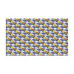 Kawaii Smiley Rainbow Pattern 35x21 Wall Decal