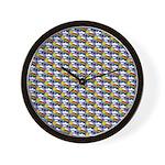 Kawaii Smiley Rainbow Pattern Wall Clock