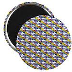 Kawaii Smiley Rainbow Pattern Magnet
