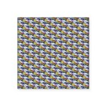 Kawaii Smiley Rainbow Pattern Square Sticker 3