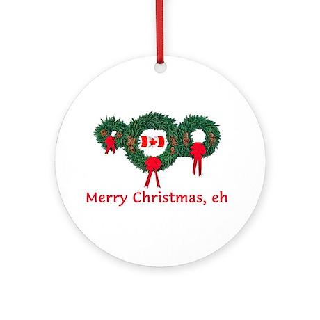 Canada Christmas 2 Ornament (Round)