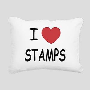 STAMPS Rectangular Canvas Pillow
