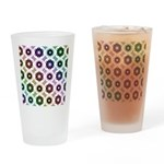 Rainbow Alien Eye Fractal Drinking Glass