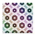Rainbow Alien Eye Fractal Art Pattern Tile Coaster