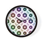 Rainbow Alien Eye Fractal Wall Clock