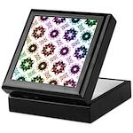 Rainbow Alien Eye Fractal Art Pattern Keepsake Box