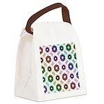 Rainbow Alien Eye Fractal Canvas Lunch Bag