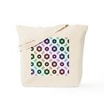 Rainbow Alien Eye Fractal Art Pattern Tote Bag