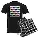 Rainbow Alien Eye Fractal Men's Dark Pajamas