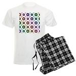 Rainbow Alien Eye Fractal Men's Light Pajamas