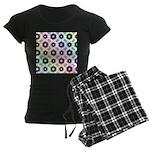 Rainbow Alien Eye Fractal Women's Dark Pajamas