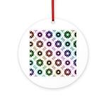 Rainbow Alien Eye Fractal Ornament (Round)