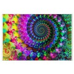 Psychedelic Rainbow Fractal Pattern Large Poster