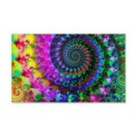 Psychedelic Rainbow Fractal 20x12 Wall Decal
