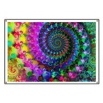 Psychedelic Rainbow Fractal Pattern Banner