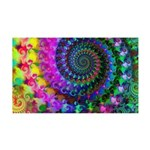 Psychedelic Rainbow Fractal 35x21 Wall Decal