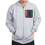 Psychedelic Rainbow Fractal Zip Hoodie