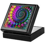 Psychedelic Rainbow Fractal Pattern Keepsake Box