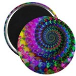 Psychedelic Rainbow Fractal Pattern Magnet