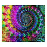 Psychedelic Rainbow Fractal Pattern King Duvet