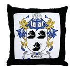 Corser Coat of Arms Throw Pillow